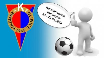 Harmonogram zajęć 23 - 29.04.2018