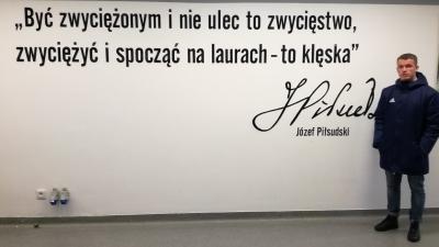 Szymon Grzywa na stażu w Legii Warszawa