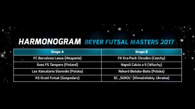 Plan turnieju Futsal Masters