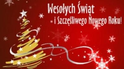Życzenia Bożonarodzeniowe oraz Noworoczne