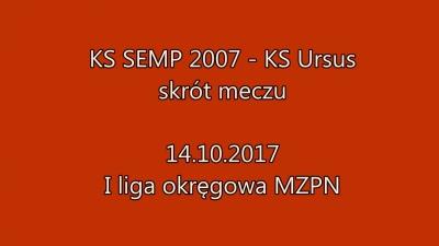 Skrót meczu SEMP Warszawa vs Ursus Warszawa 2:4