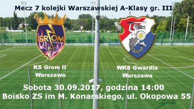Rezerwy Gromu Warszawa kolejnym przeciwnikiem