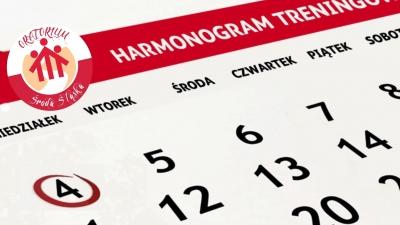Harmonogram treningów - WIOSNA 2018