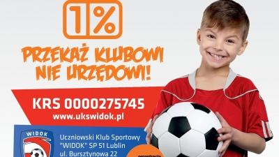 Przekaż 1 % podatku na rzecz Widoku Lublin!