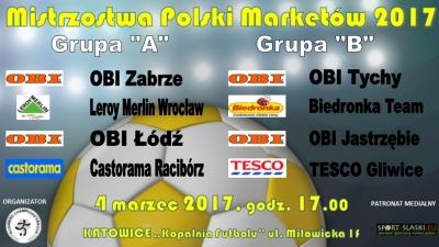 """Podział grup - """"Mistrzostwa Polski Marketów 2017"""" - wyniki losowania"""