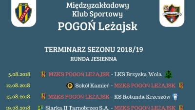 Terminarz Sezonu 2018/18 - Runda Jesienna