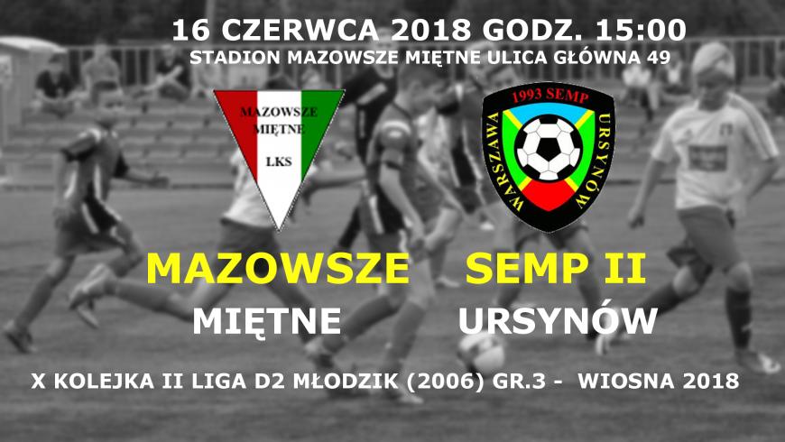 Powołania na X-tą kolejkę II ligi MZPN (wiosna 2018)