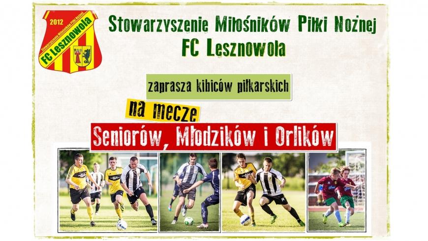 FC LESZNOWOLA zaprasza na mecze swoich drużyn