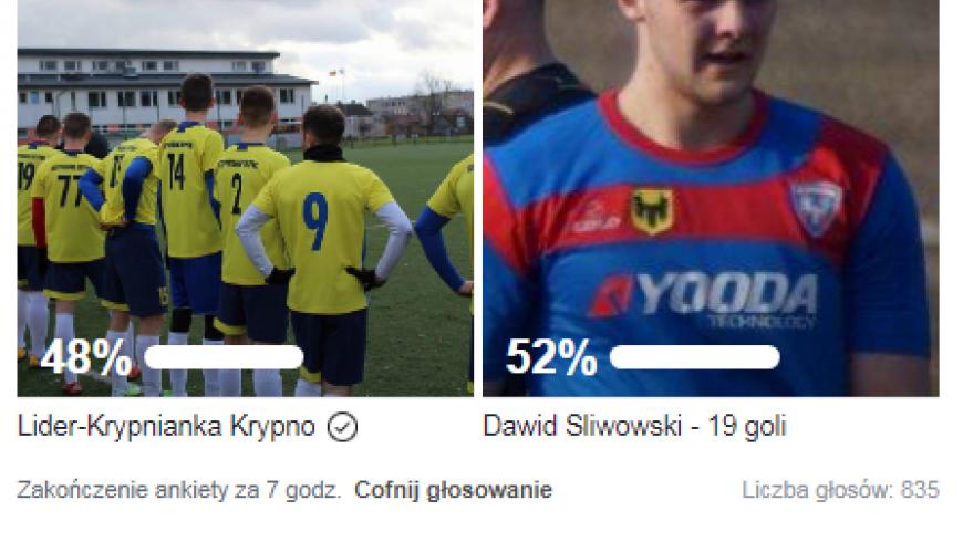 Dawid Śliwowski, lider strzelców 4 ligi, z nagrodą miesiąca od kibiców!