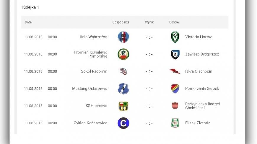 Terminarz ligi okręgowej już znany. Pierwszy mecz Zawiszy Bydgoszcz zagra na wyjeździe
