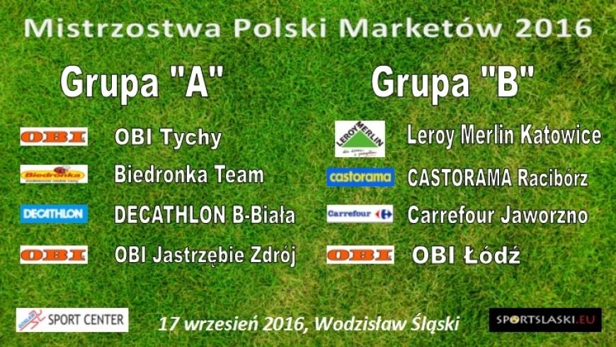 """Podział grup - """"Mistrzostwa Polski Marketów 2016"""""""