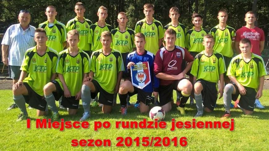 Juniorzy Starsi kończą rundę jesienną zwycięstwem i są Liderem tabeli.
