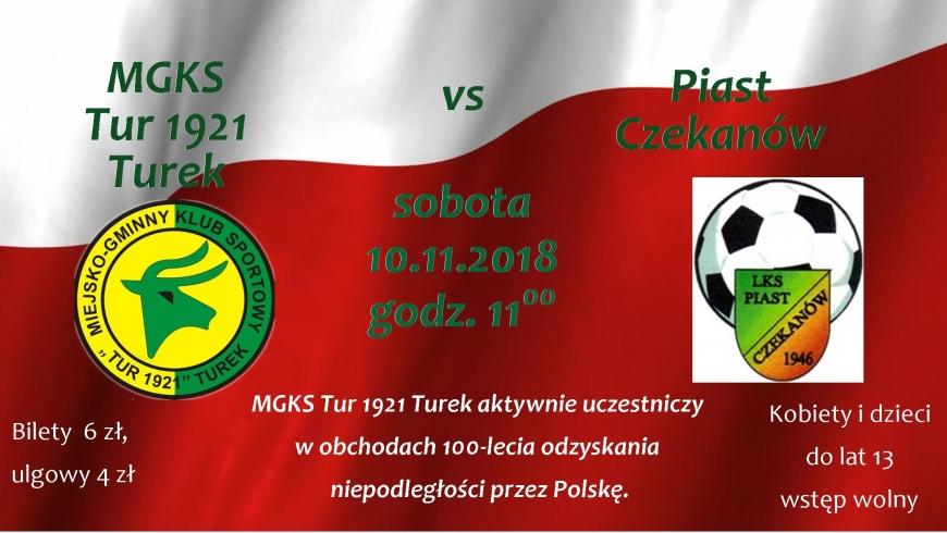 Zapraszamy na mecz MGKS Tur 1921 Turek-Piast Czekanów.