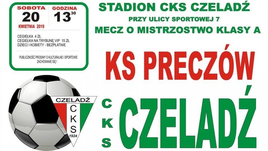 W sobotę mecz z KS Preczów