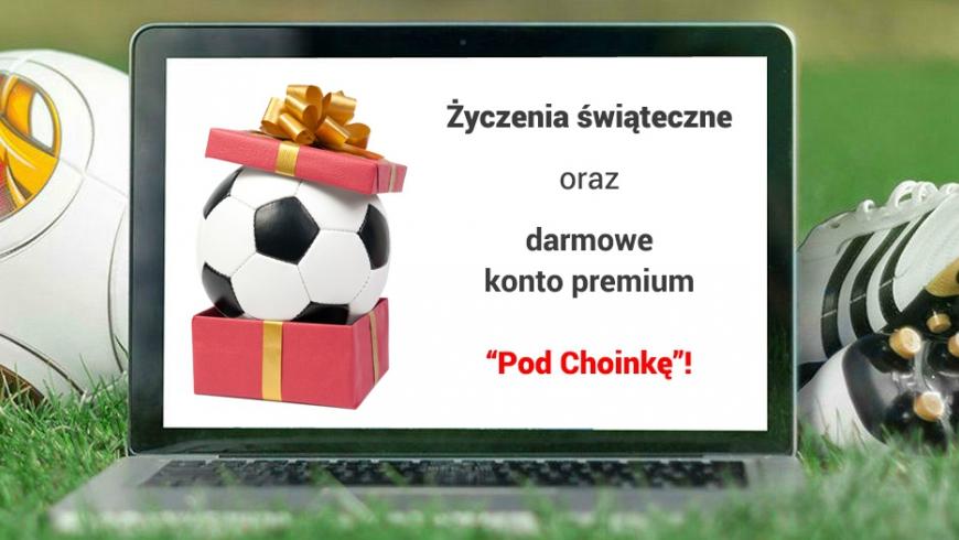 Darmowe konto premium pod choinkę i życzenia świąteczne od Futbolowo.pl