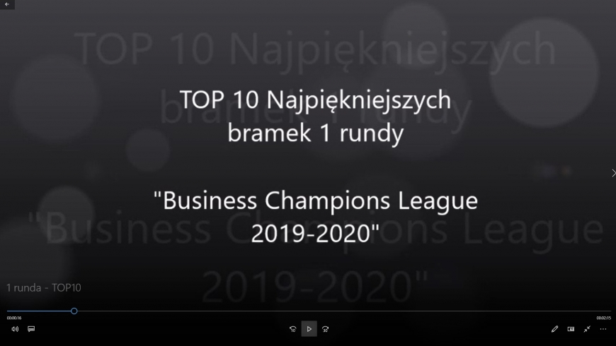 "TOP 10 bramek 1 rundy rozgrywek ""Business Champions League 2019-2020"""