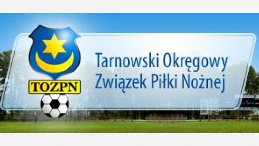 Wstępny terminarz ligi okręgowej Tarnów - wiosna 2018/2019
