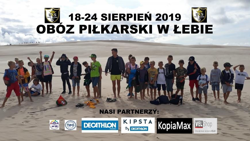 OBÓZ PIŁKARSKI 18-24.08.2019 W ŁEBIE