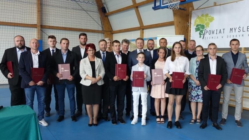 Trenerzy Orła Myślenice nagrodzeni przez Starostę Powiatu Myślenickiego!
