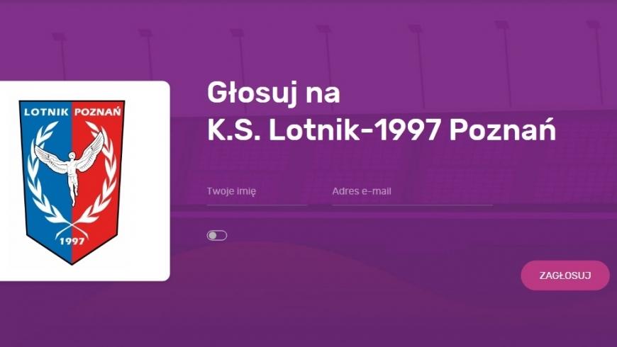 Sportbonus - głosuj na Lotnika.