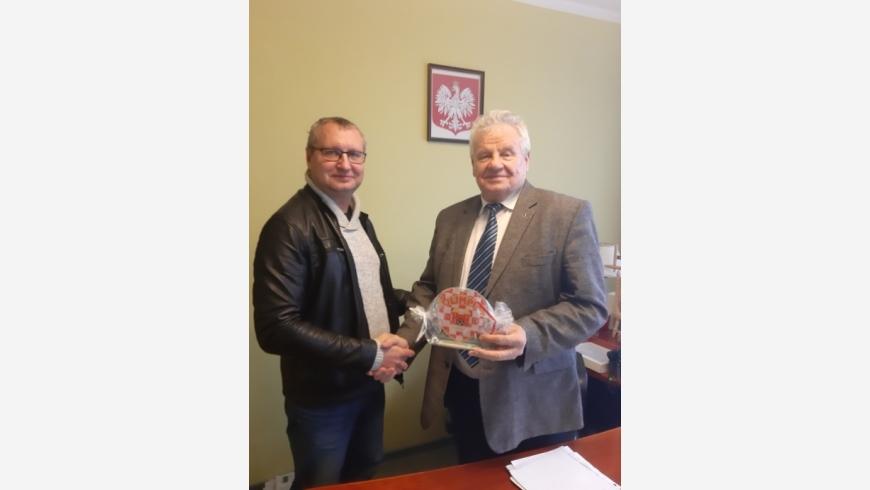 Podziękowania dla prezesa OSM Koło pana Czesława Cieślaka