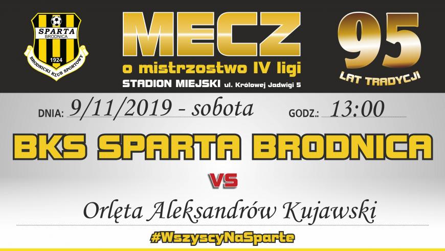 15. kolejka: Sparta vs. Orlęta Aleksandrów Kujawski