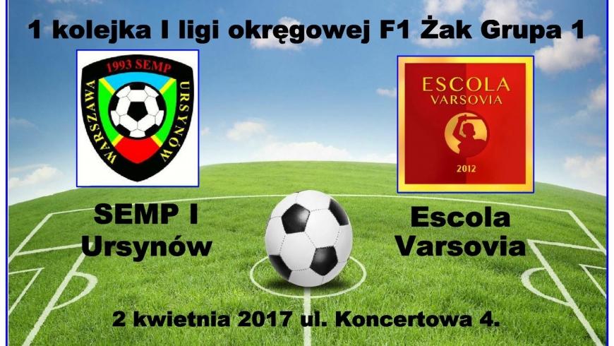 Wideorelacja z meczu 1 kolejki MZPN KS Semp 1 - Escola Varsovia