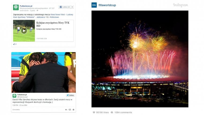 Umieszczaj treści z Facebooka, Twittera i Instagrama