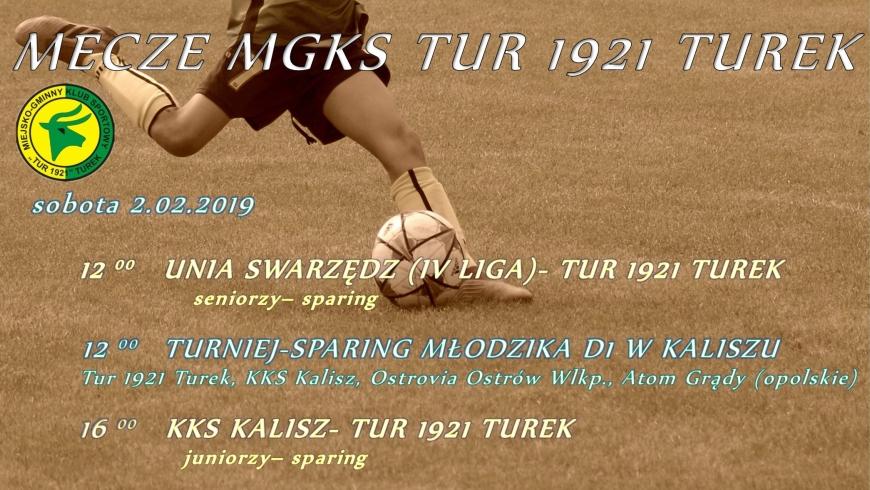 Zaproszenie na mecze drużyn Tur 1921 Turek.