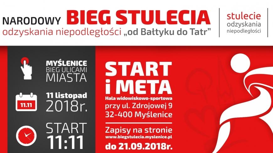 Narodowy Bieg Stulecia w Myślenicach – przedłużamy zapisy do 21 września!