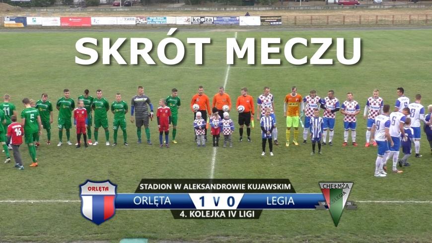 VIDEO: Skrót meczu Orlęta 1:0 Legia Chełmża