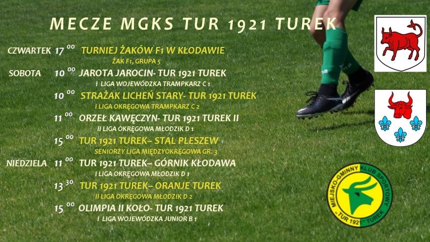 Zaproszenie na mecz drużyn MGKS Tur 1921 Turek.