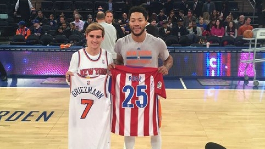 Griezmann tauscht sein Atlético Madrid trikot mit Rose