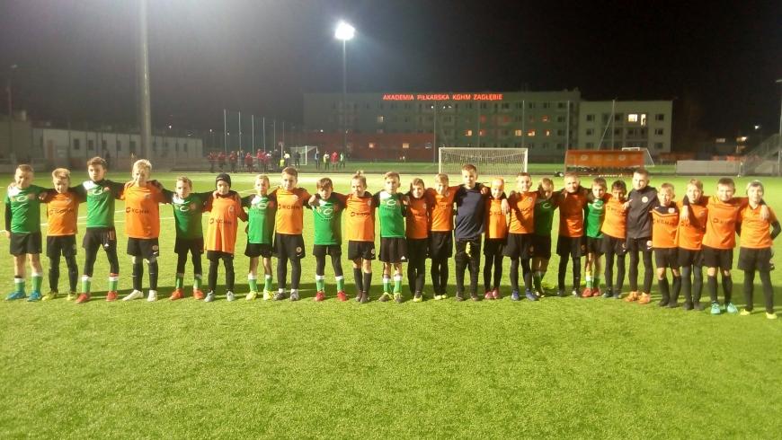Lekcja futbolu od zespołu orlików Zagłebia Lubin