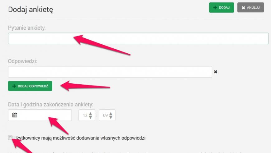 Sprawdź nowy moduł ankiet!