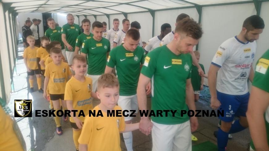 Wyprowadzanie zawodników Warty Poznań