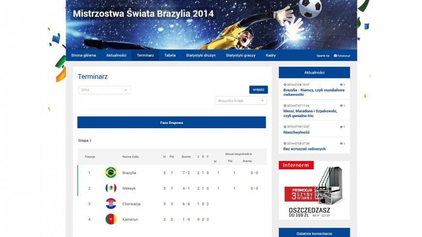 Stwórz stronę turniejową na Futbolowo 2.0