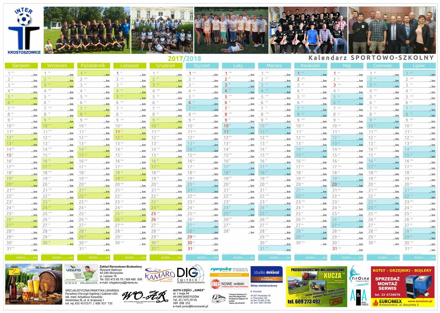 Kalendarz INTER Krostoszowice 2017